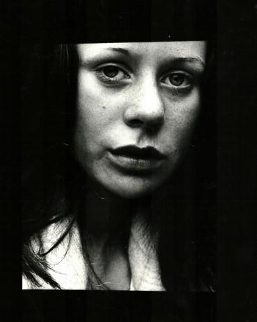 Girl at bus stop 1973